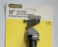 "STANLEY. Gate Spring >14""< Black WITH FIXINGS. Ornate. ADJUSTABLE. 76-0869"